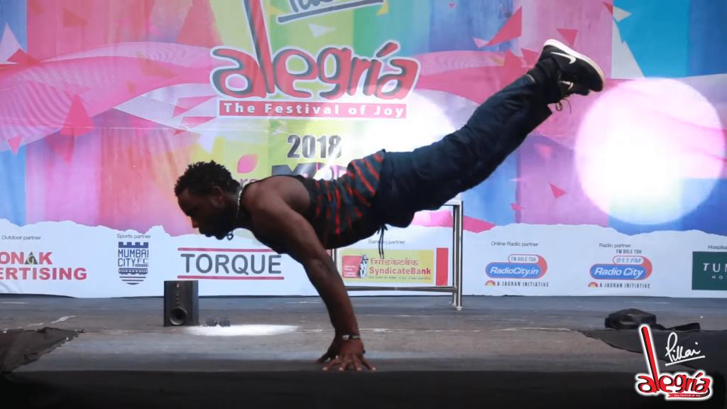 Legendary Break Dancer Showcases Superhuman Strength Live On Stage
