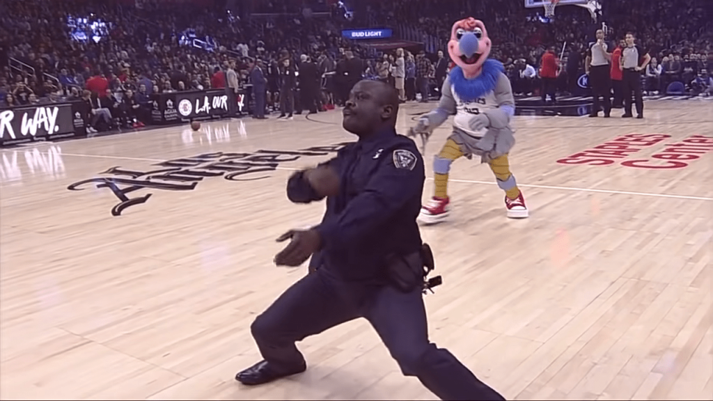Cop Randomly Shows Off Hilarious Dance Moves At NBA Game