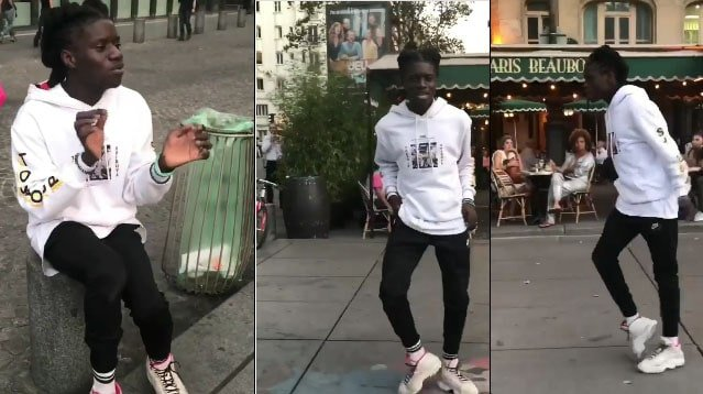 Tourists In Paris Restaurants Stunned By Super Smooth Moonwalker