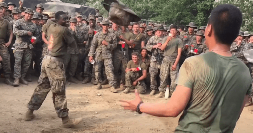 US Marines Dance Off With South Korean Marines In Awesome Military Battle