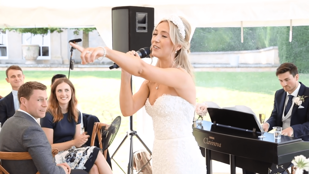 Musical Bride And Groom Sing Epic Wedding Speech In 14 Minute Emotional Performance