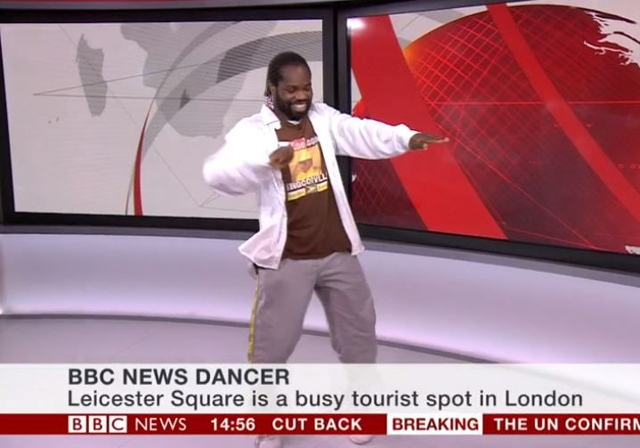 When The BBC Invited A Man To Dance To Their Theme Song In The Studio