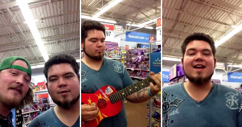 "Two Musicians Play Ray Vaughan's ""Pride and Joy"" On A Walmart Toy Guitar"